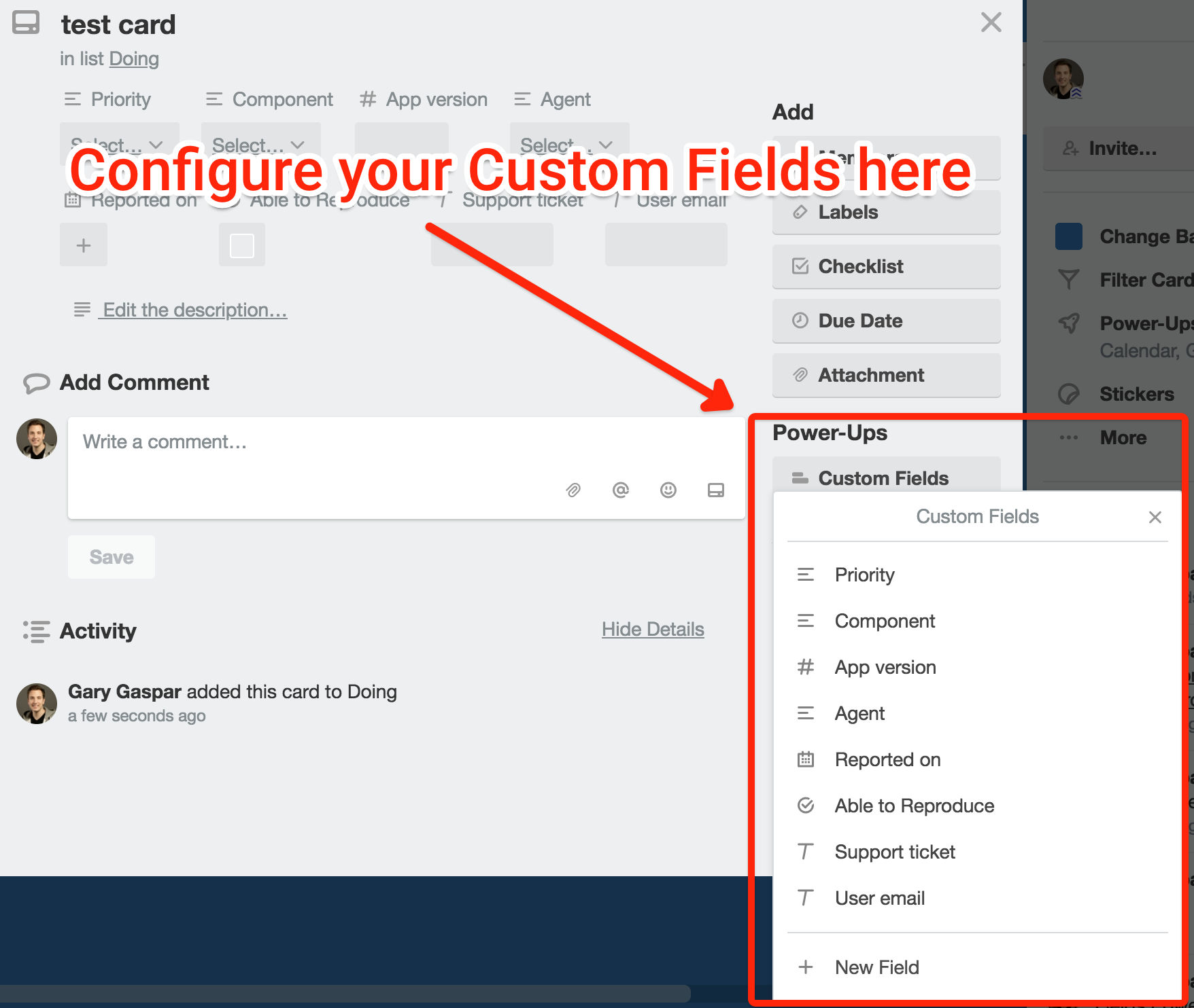 Types of Trello custom fields