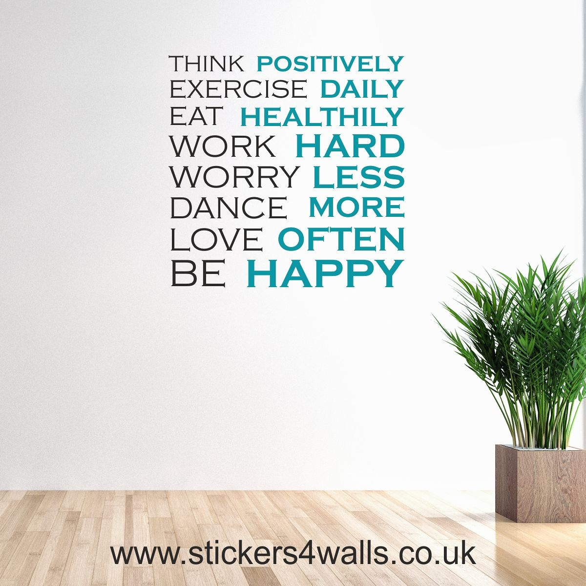 Inspirational wall sticker