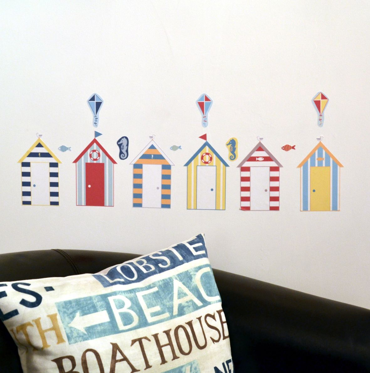 Fabristick beach hut wall stickers