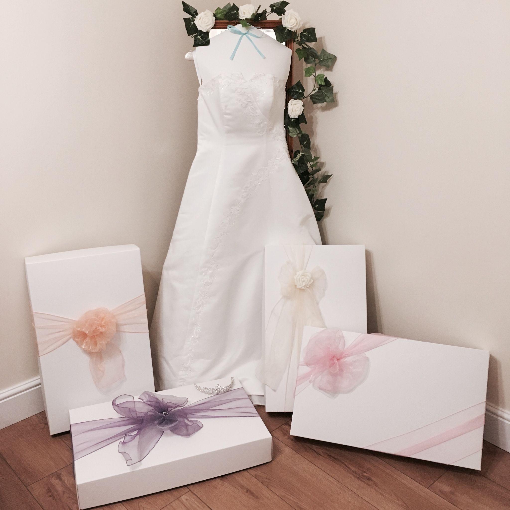 LARGE RANGE OF WEDDING DRESS STORAGE BOXES
