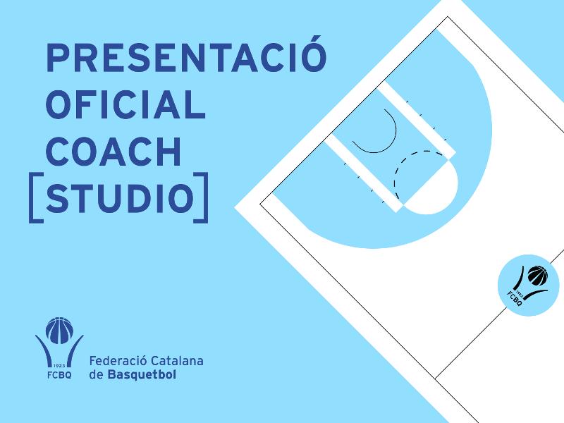 La Federació Catalana de Basquetbol presenta l'aplicació COACH STUDIO bàsquet de gestió integral de l'entrenament