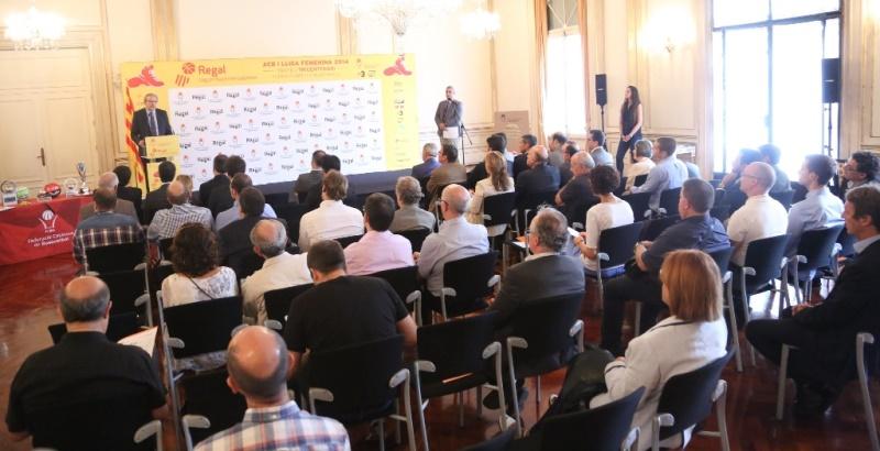 Presentades les Regal Lligues Nacionals Catalanes 2014 - Trofeu Tricentenari al Palau de Pedralbes de Barcelona