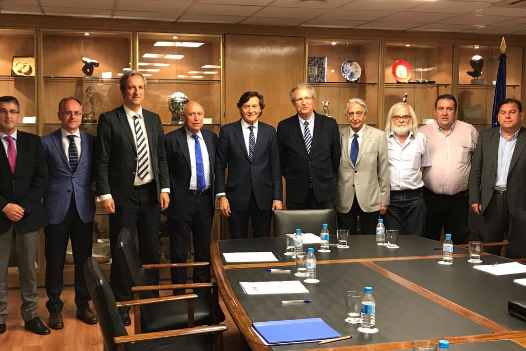 Reunió de treball de lFCBQ i la Taula de Castelldefels amb el president del Consejo Superior de Deportes
