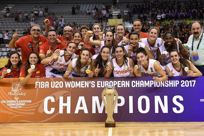 Laia Raventós, Ainhoa López, Maria Martiáñez i Iho Lópezes proclamen campiones dEuropa U20