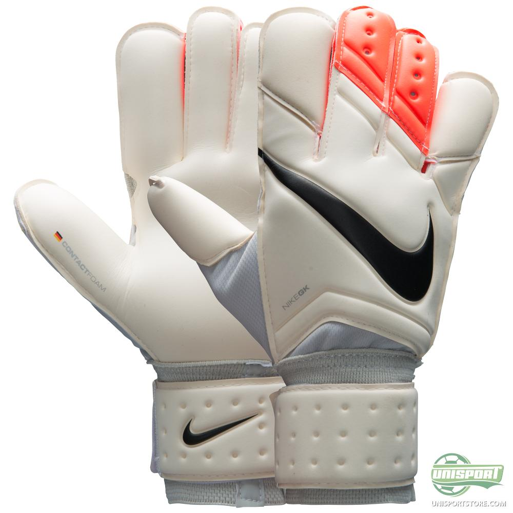 Nike Keeper Gloves: Goalkeeper Gloves Vapor Grip 3 White/Total Crimson