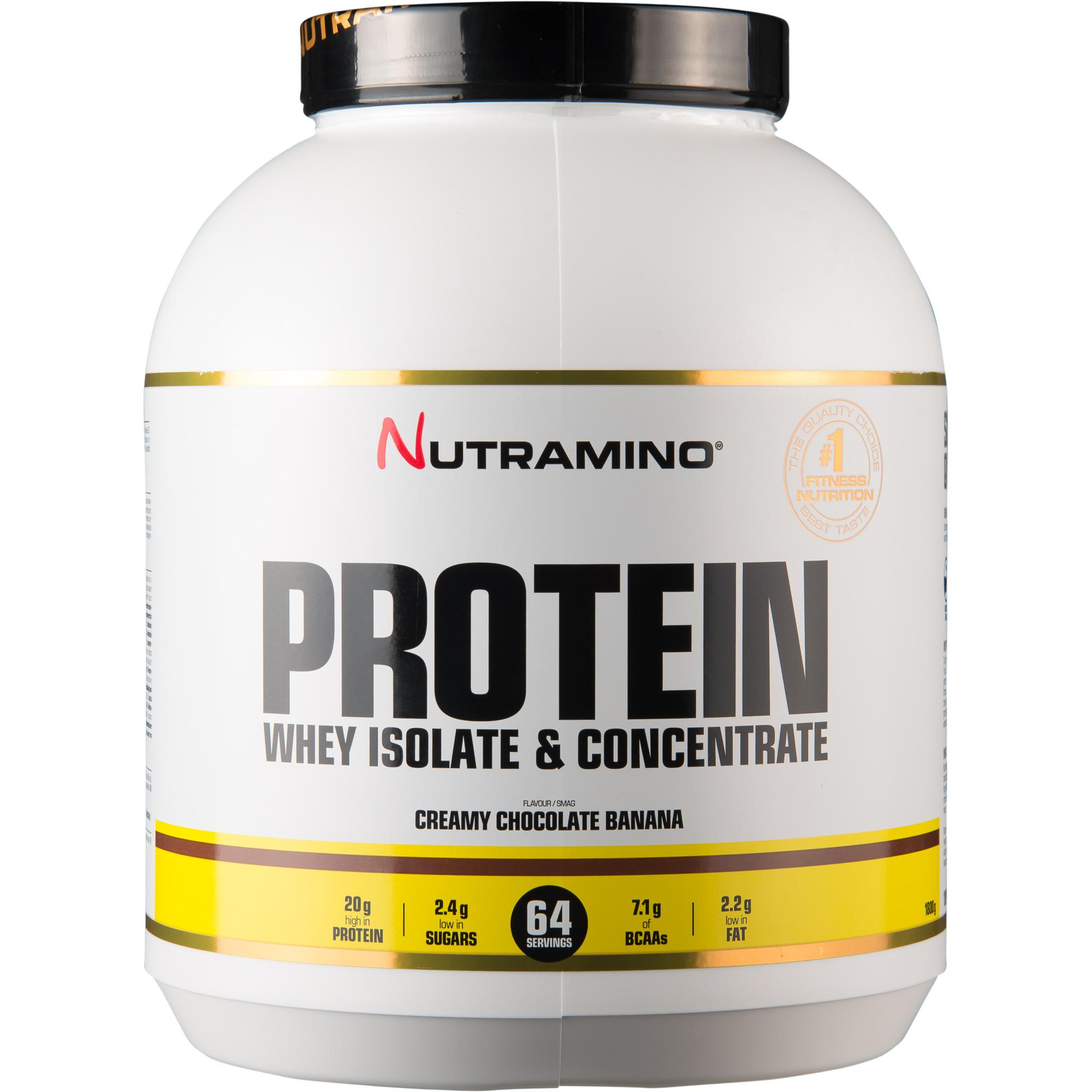 Nutramino Whey Isolate Protein Choklad/Banan 1,8 kg.