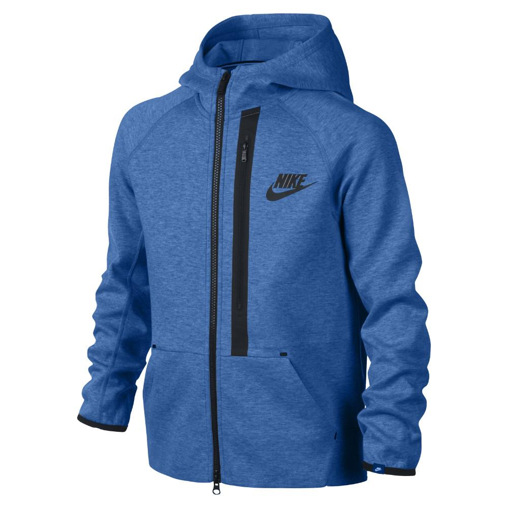Nike Luvtröja Tech Fleece FZ Blå Barn