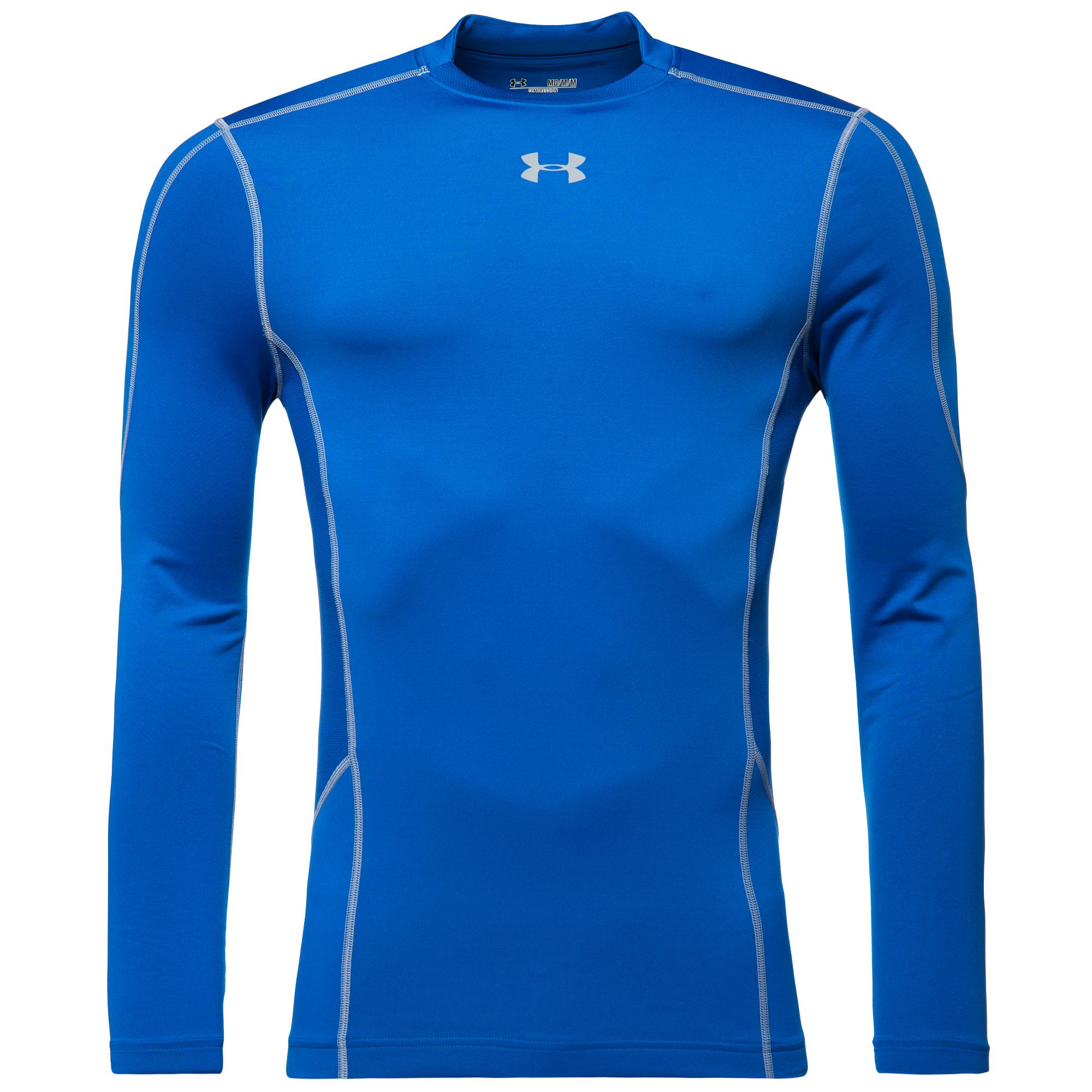 Under Armour ColdGear Evo Compression Hybrid Mock L/Ä Blå