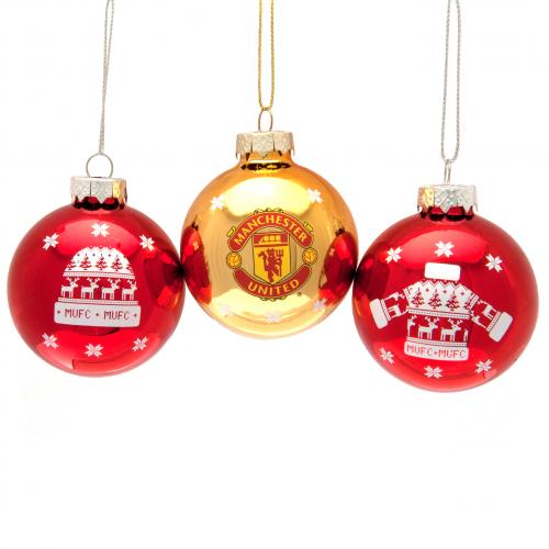 Manchester United Julgranskulor 3-Pack