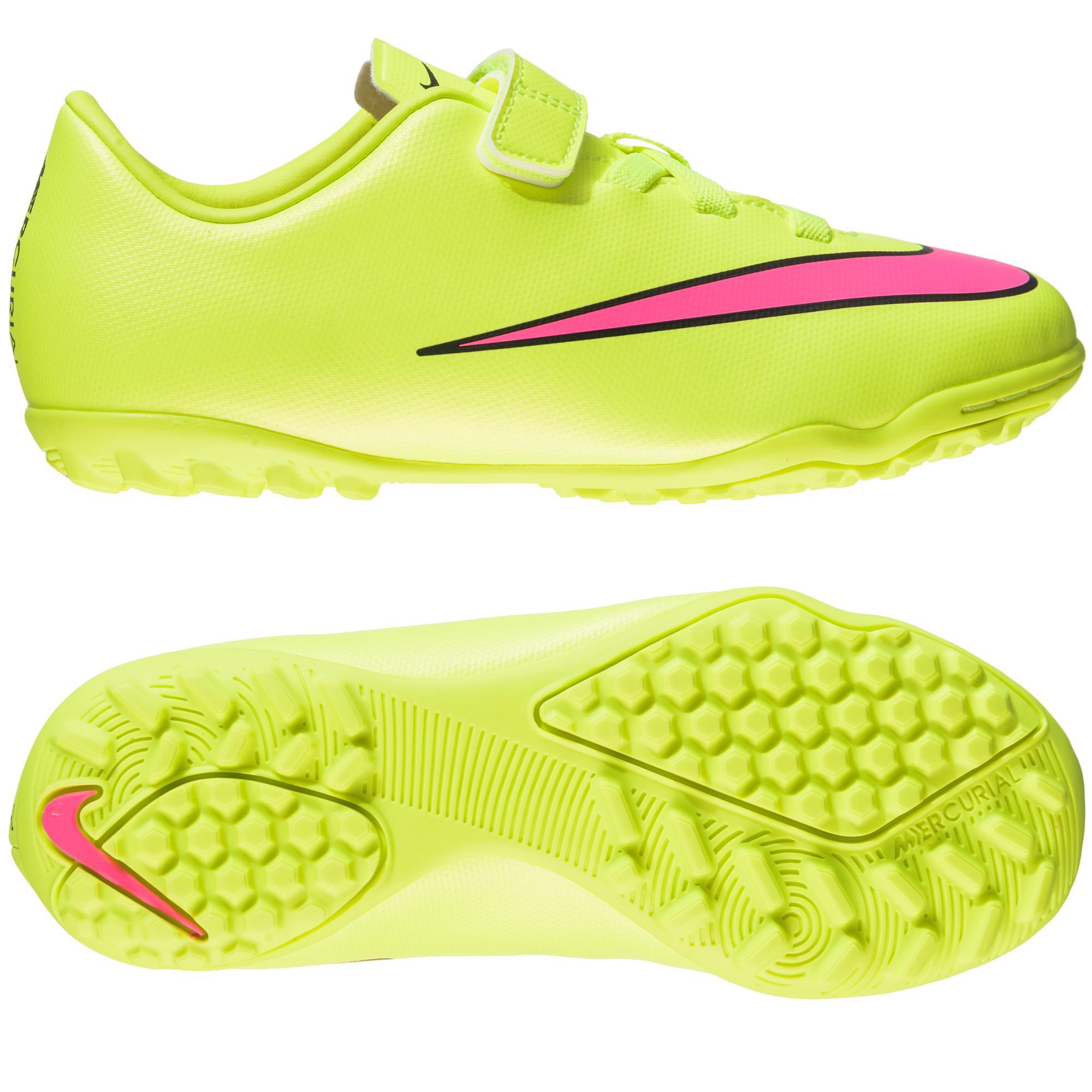 Nike Mercurial Victory V TF Neon/Rosa/Svart Barn