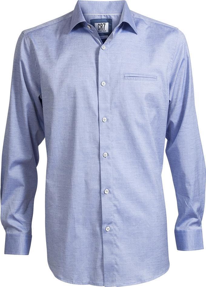 CR7 Skjorta Classic Fit Blå