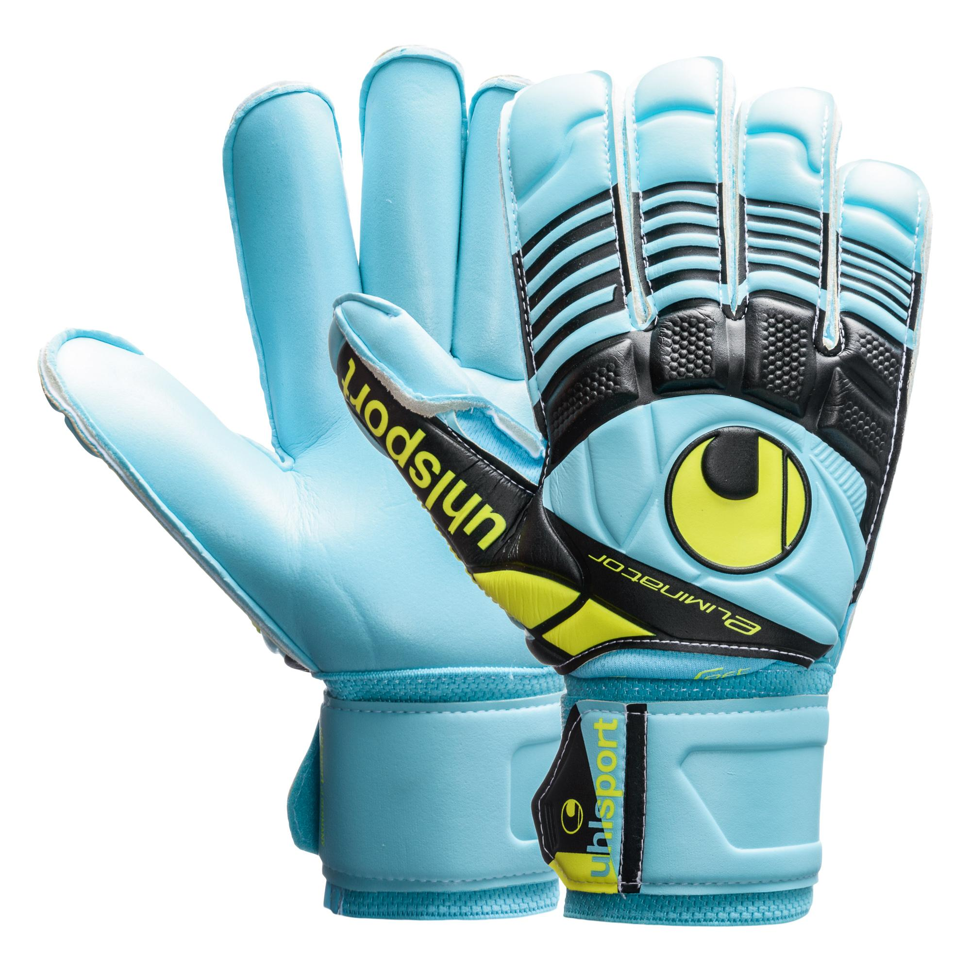 Uhlsport Målvaktshandske Eliminator Supersoft Rollfinger Turkos/Svart/Gul