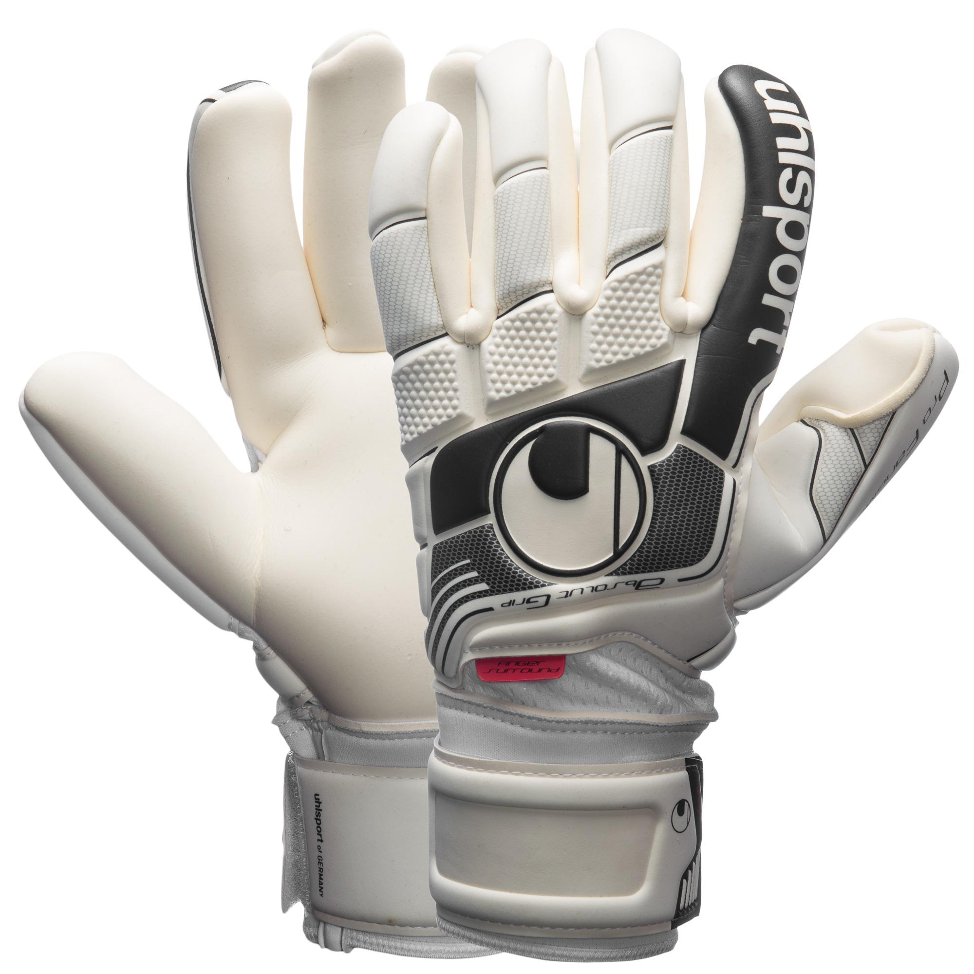 Uhlsport Målvaktshandske Fangmaschine Absolutgrip Finger Surround Vit/Grå