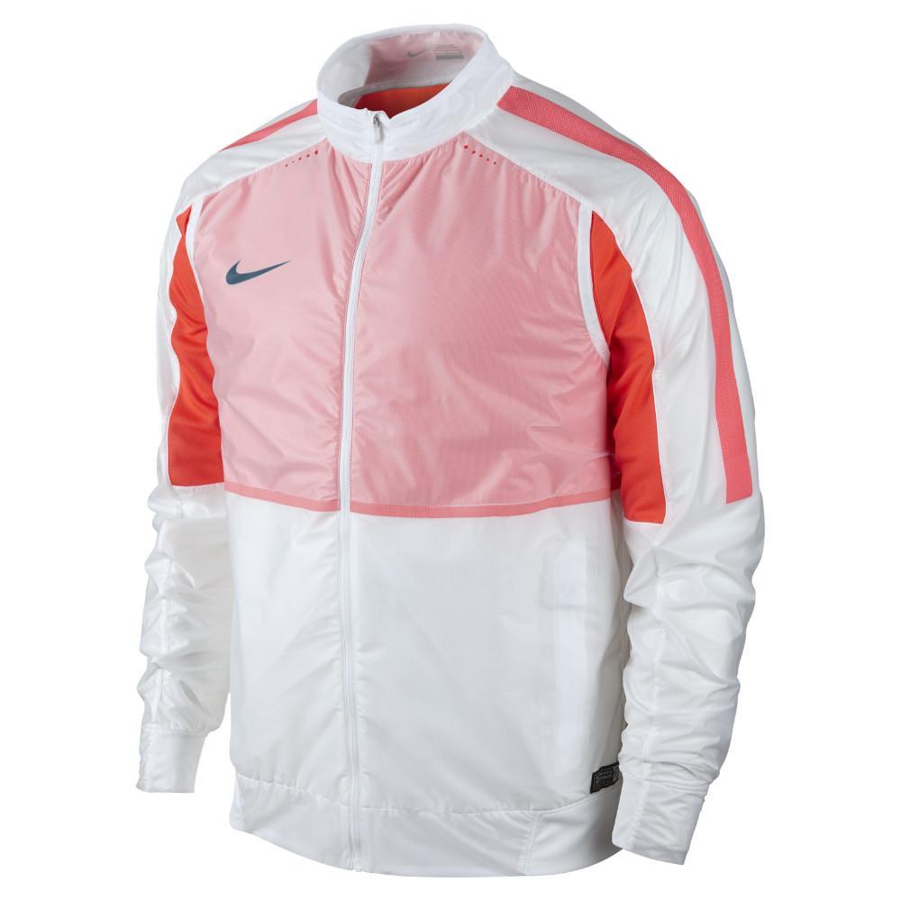 Nike Träningsjacka Select Revolution Lightweight Woven Vit/Orange