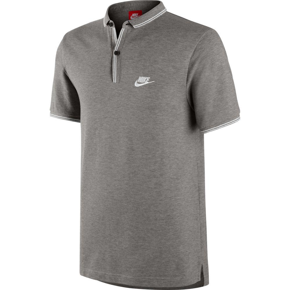 Nike Piké League Slim Collar Grå/Vit