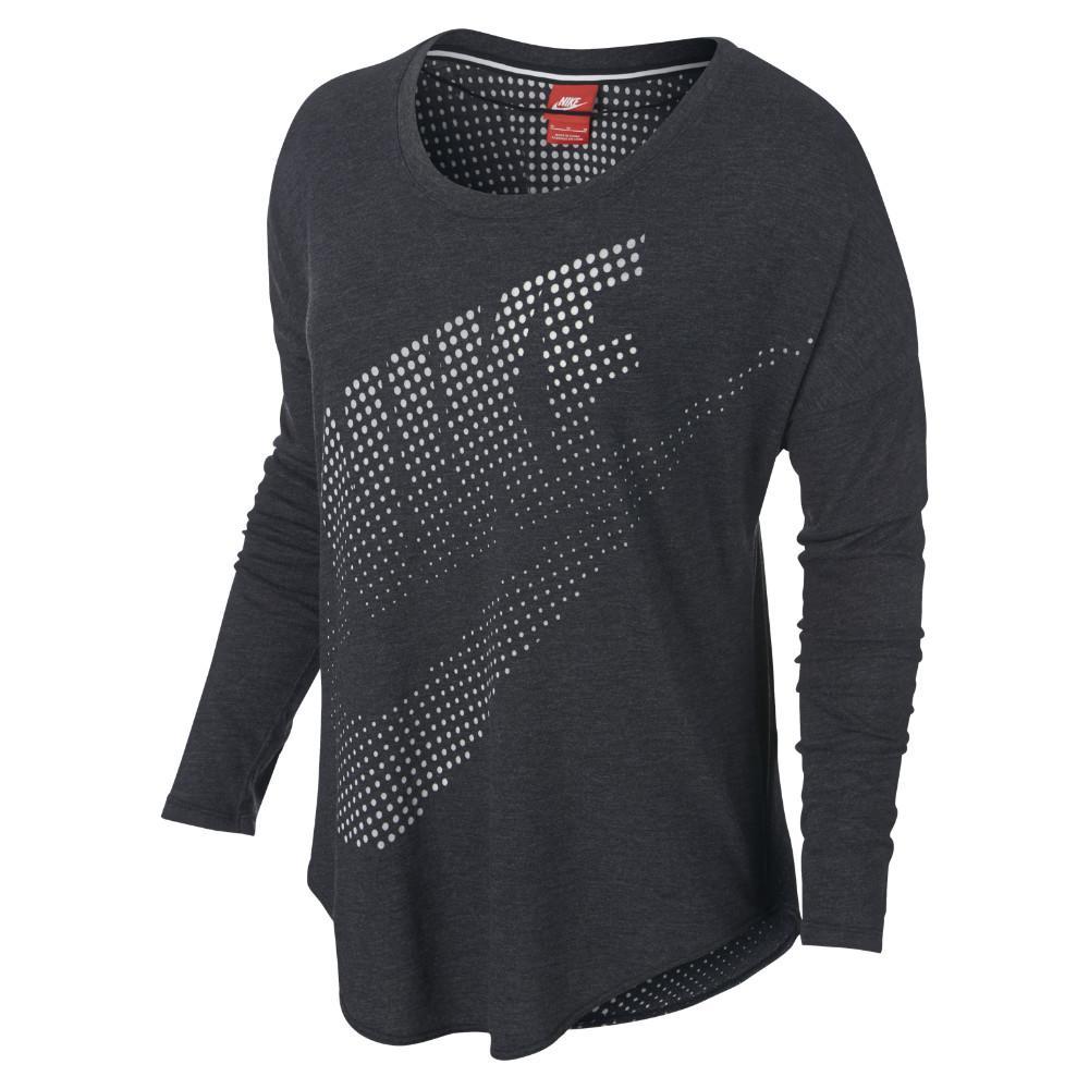 Nike T-Shirt Träning Burnout L/Ä Svart/Vit Dam