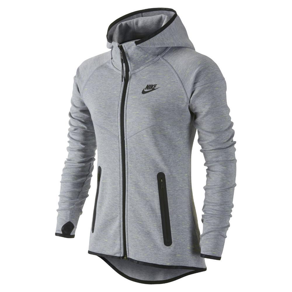 Nike Luvtröja Tech Fleece FZ Grå/Svart Dam