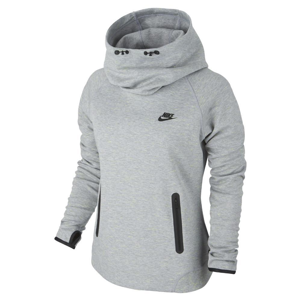 Nike Luvtröja Tech Fleece Grå/Svart Dam