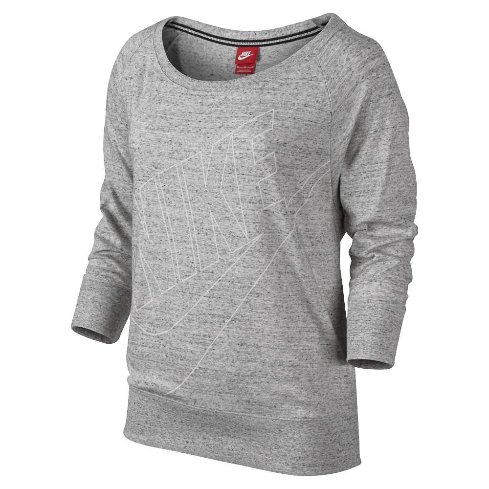 Nike Sweatshirt Gym Vintage Grå/Vit Dam