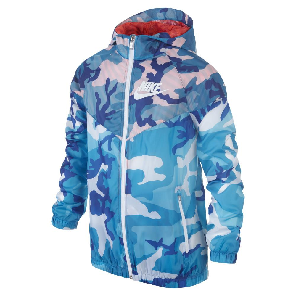 Nike Windrunner Flight Weight Camo Blå/Orange/Vit Barn