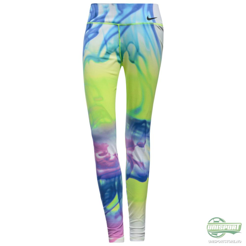 8583612ce74 Nike – Tights Legendary Lava Neon/Mulitcolor Dame