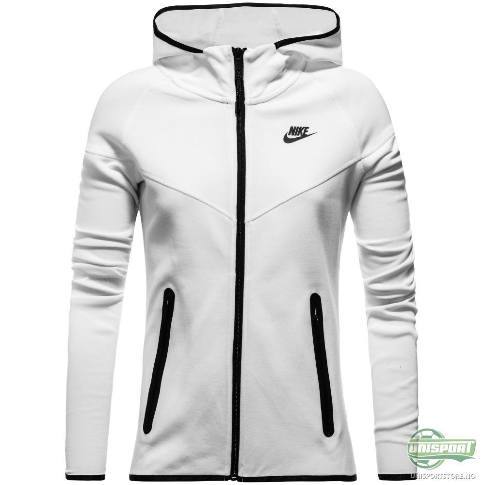 b1e7a7d8 Nike – Hettegenser Tech Fleece FZ Hvit/Sort