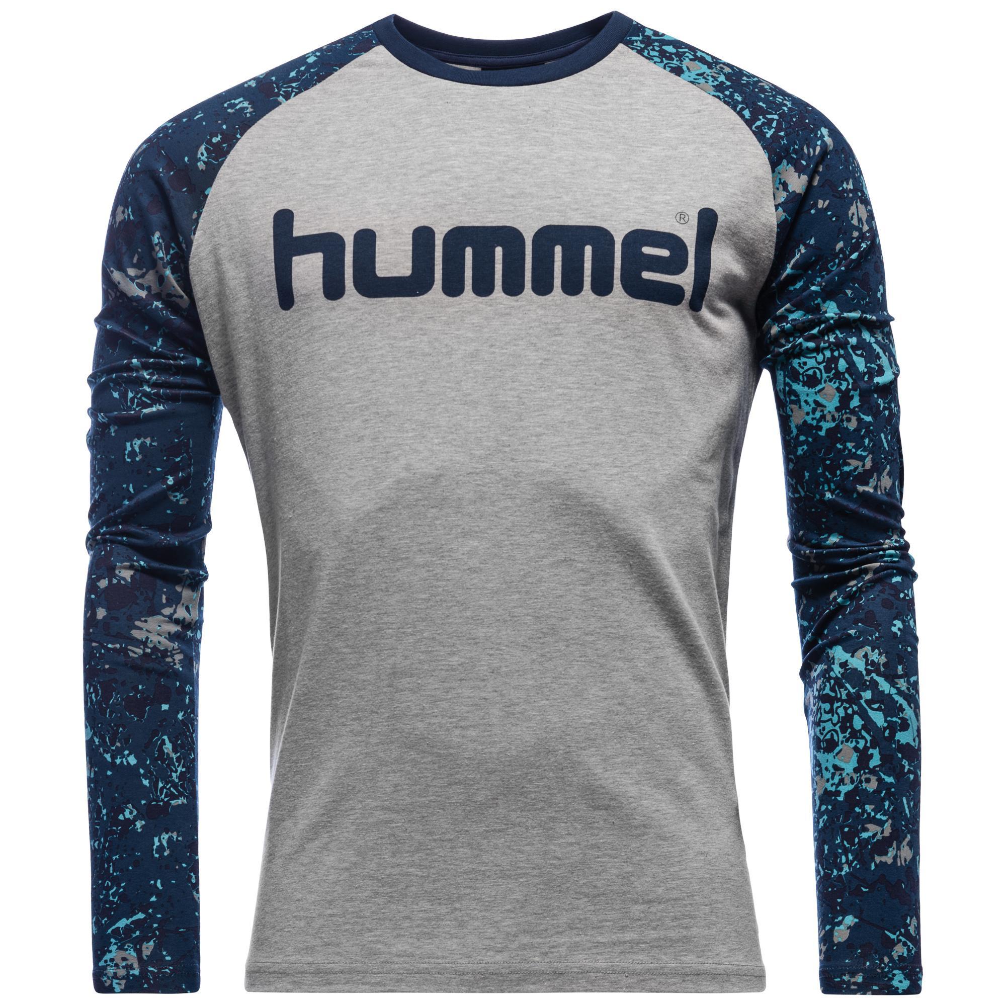 Hummel T-Shirt Neal LÄ Grå