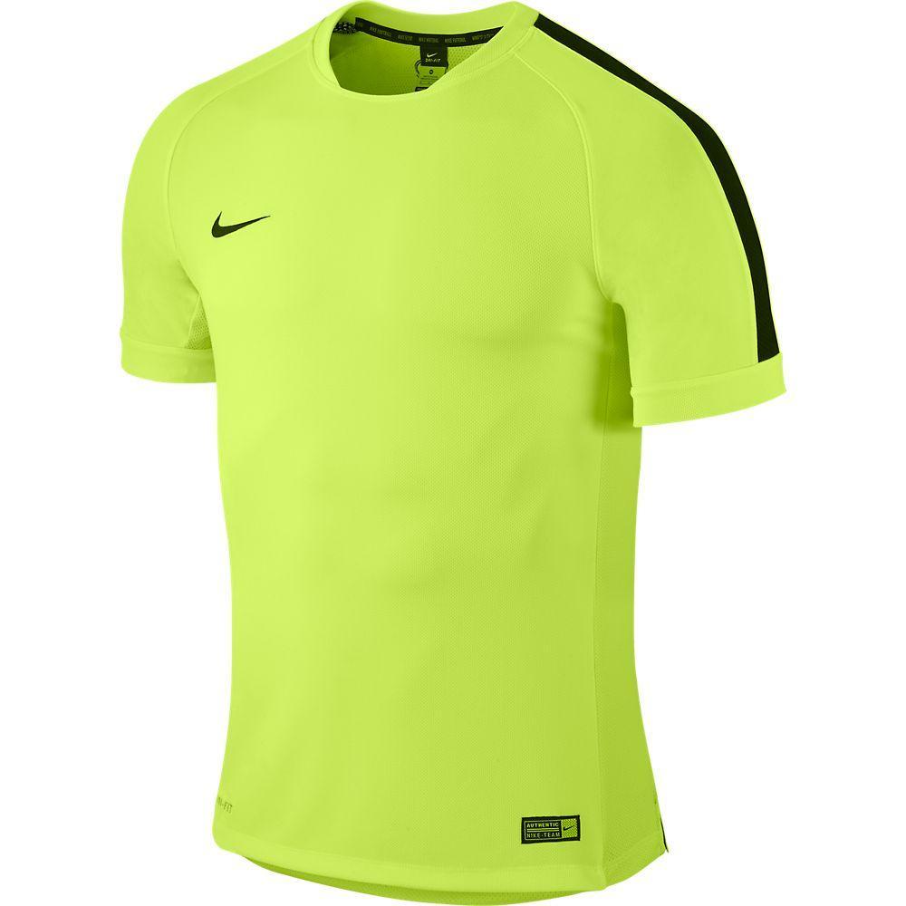 Nike Tränings T-Shirt Squad Flash Neon/Svart Barn