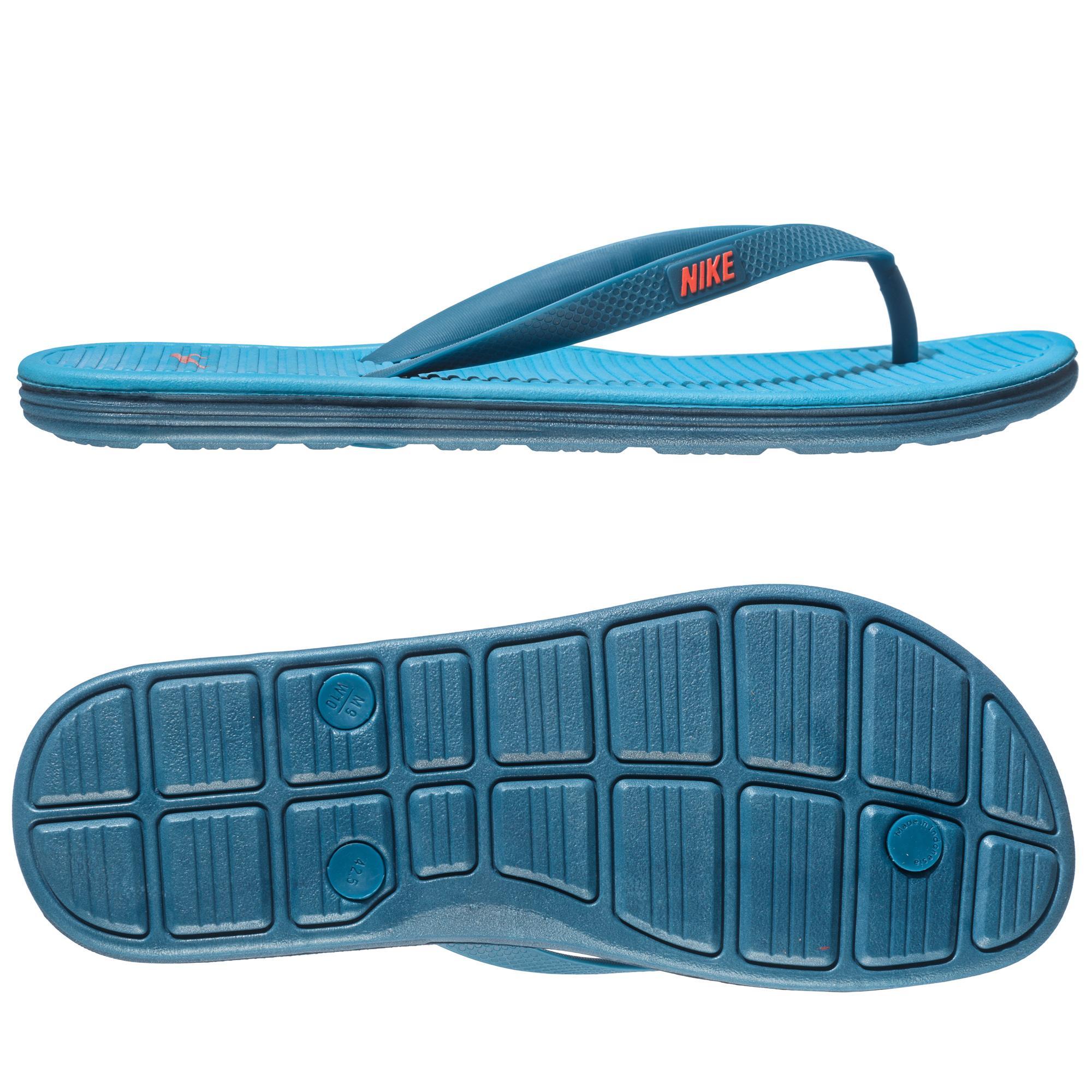 new concept d4e7b 556de Nike Badtofflor Solarsoft Thong 2 Blå Orange
