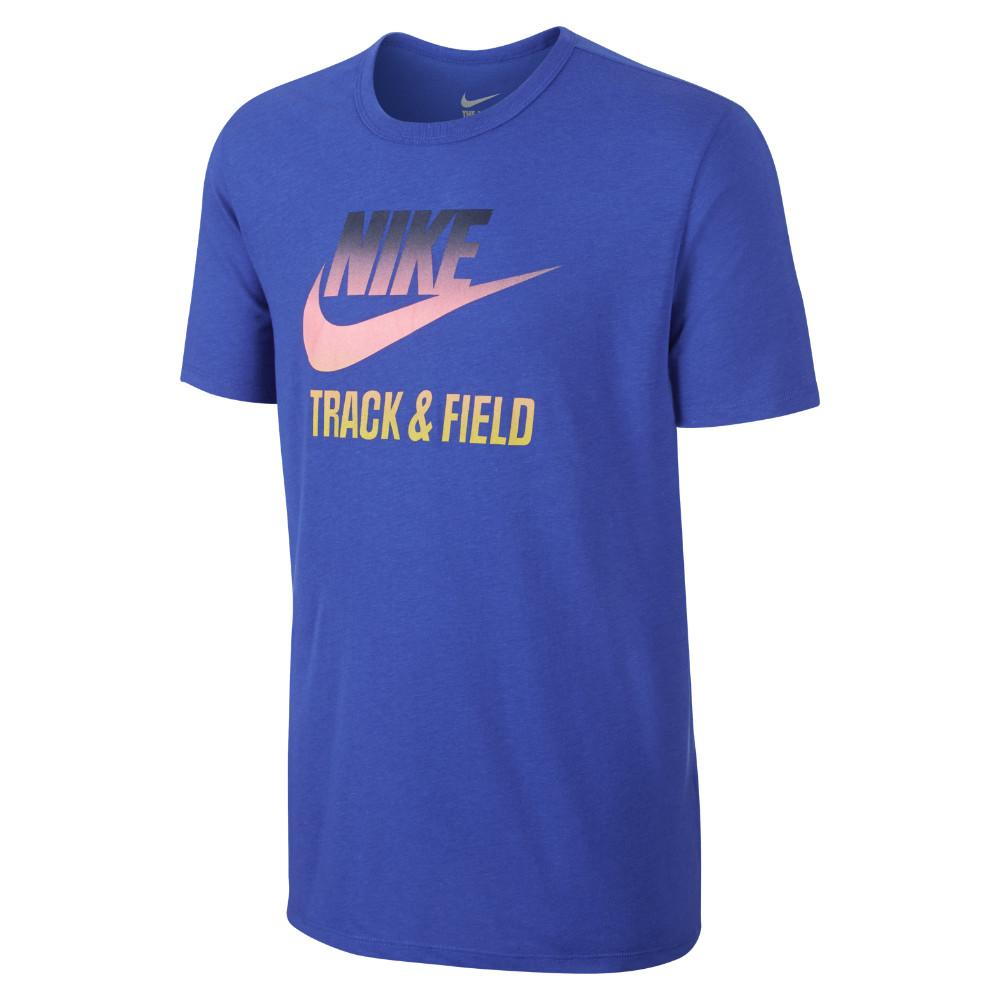 Nike T-Shirt Track & Field Gradient Blå