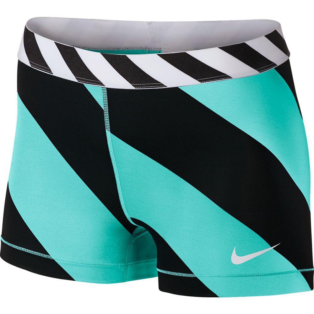 Nike Shorts Pro Diagonal Stripe 7.5 cm Blå/Svart Dam