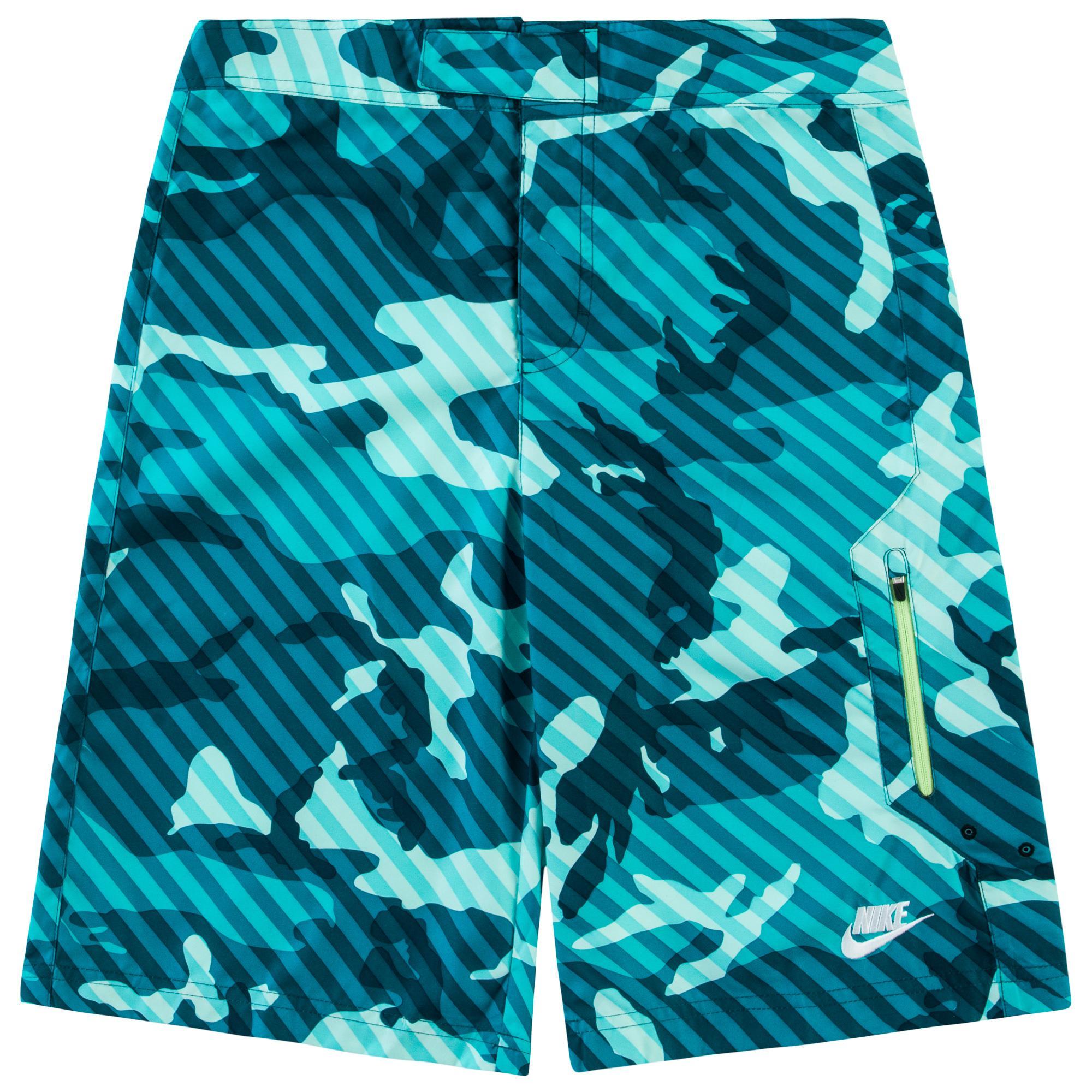 Nike Badshorts Camo Turkos/Svart Barn
