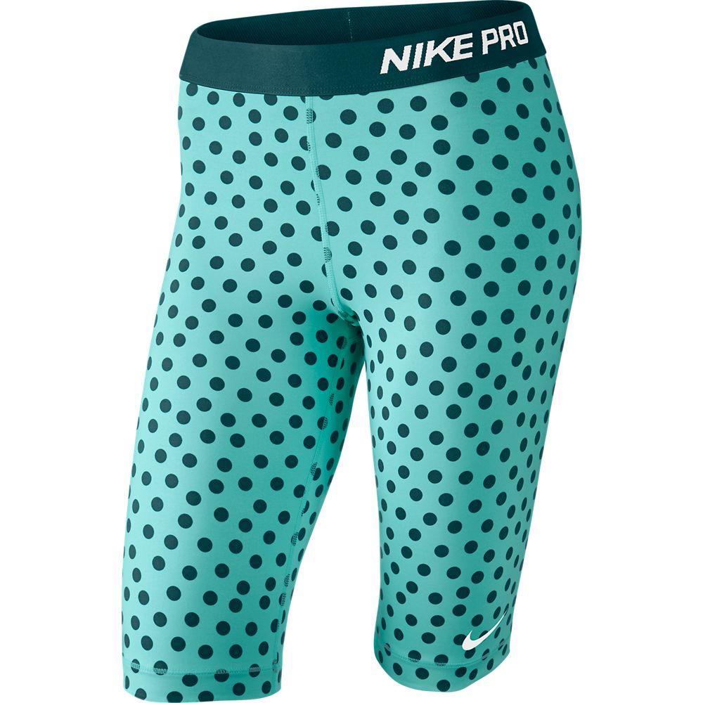 Nike Shorts Pro Small Dot 28cm Turkos Dam