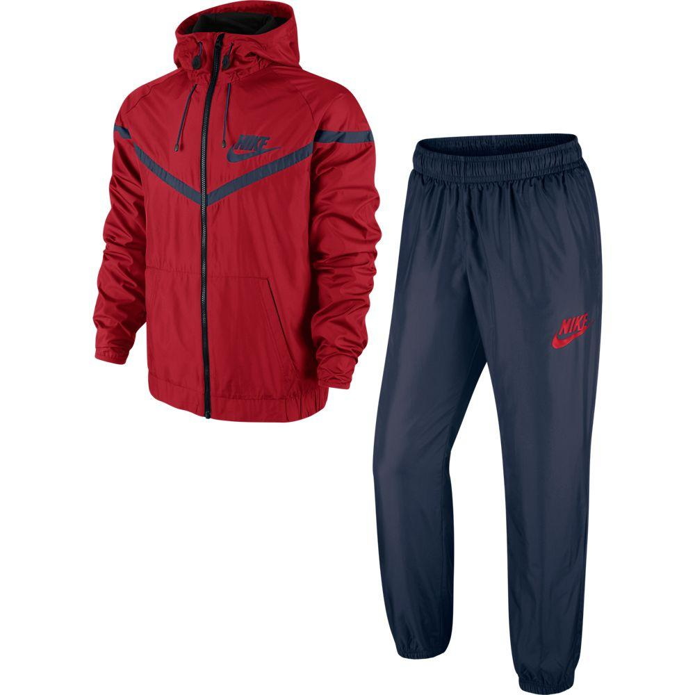 Nike Träningsoverall Fearless Woven Röd/Navy
