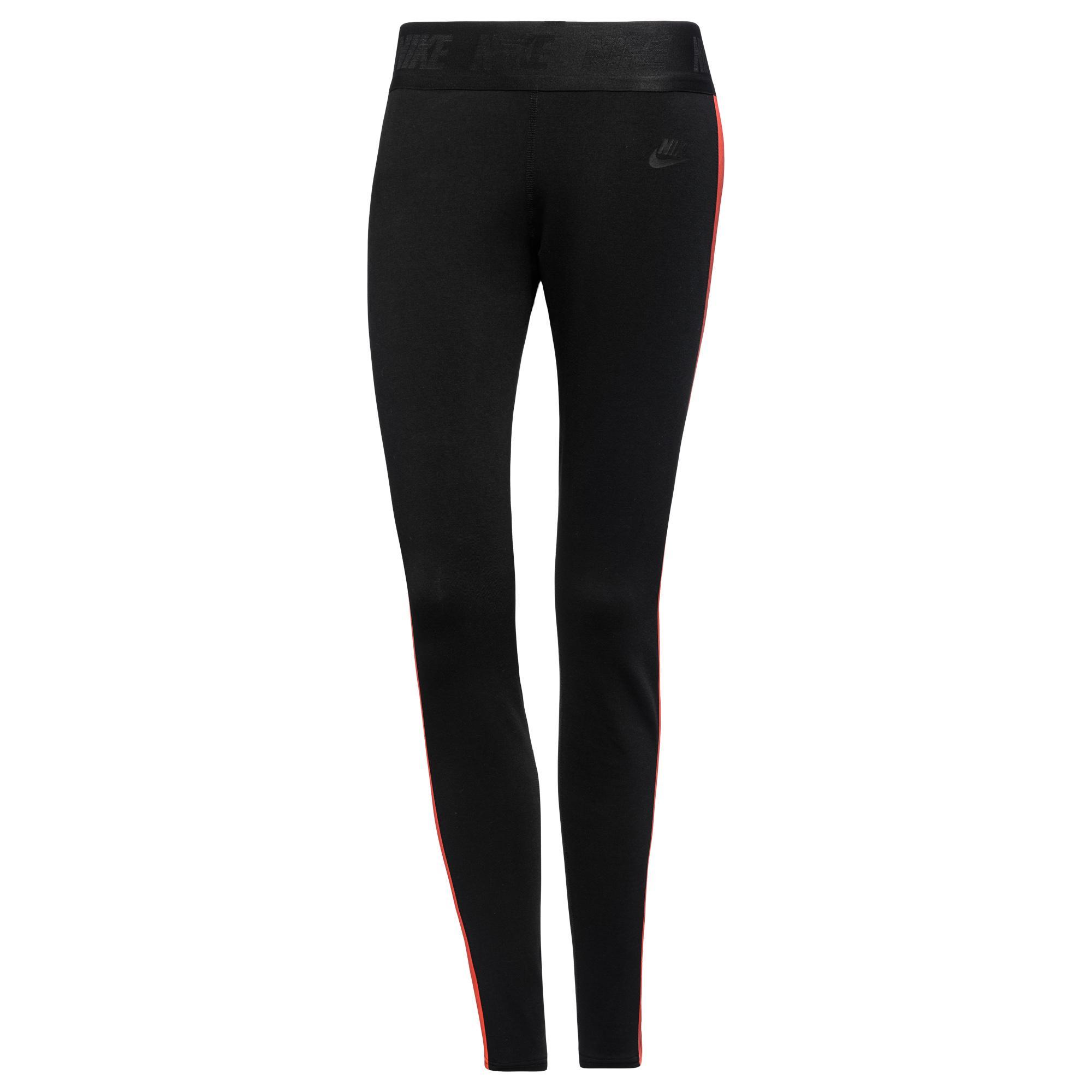 Nike Träningsbyxor Tech Fleece Svart/Röd Dam