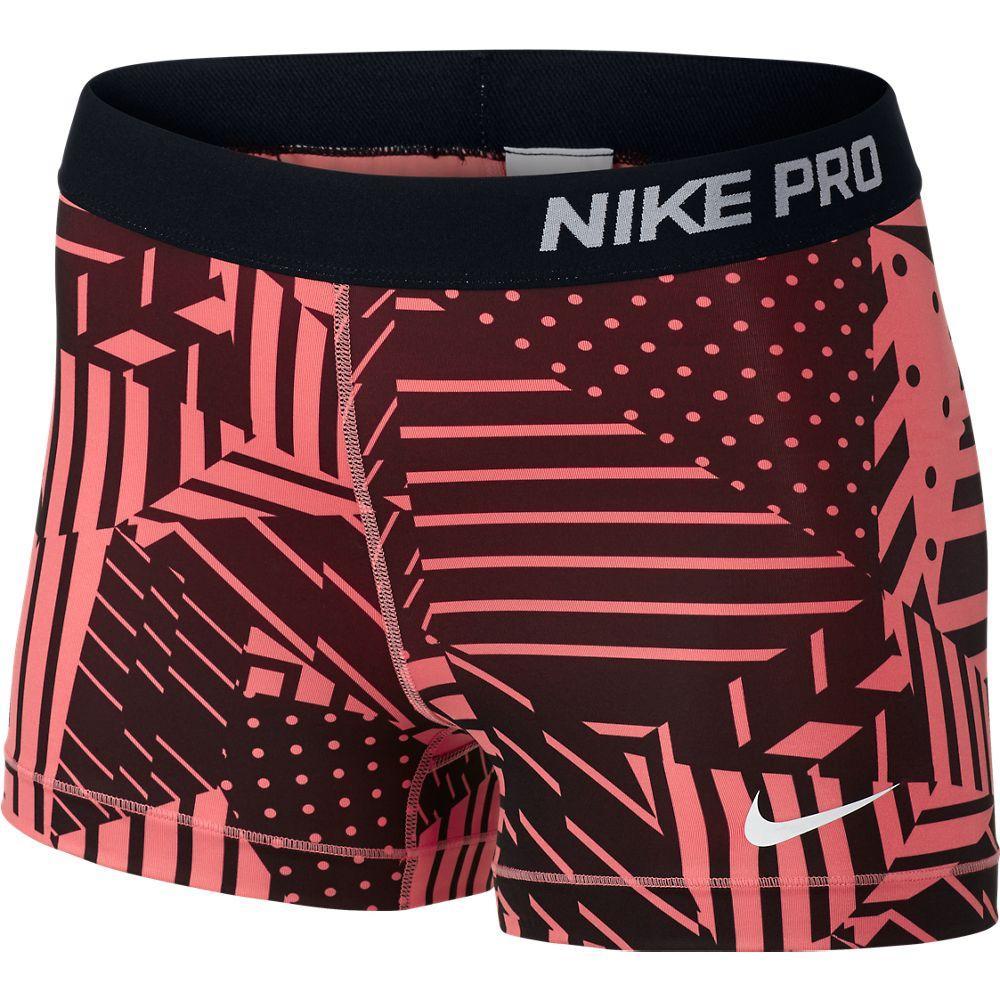 Nike Shorts Pro Patchwork 7.5 cm Orange/Svart Dam