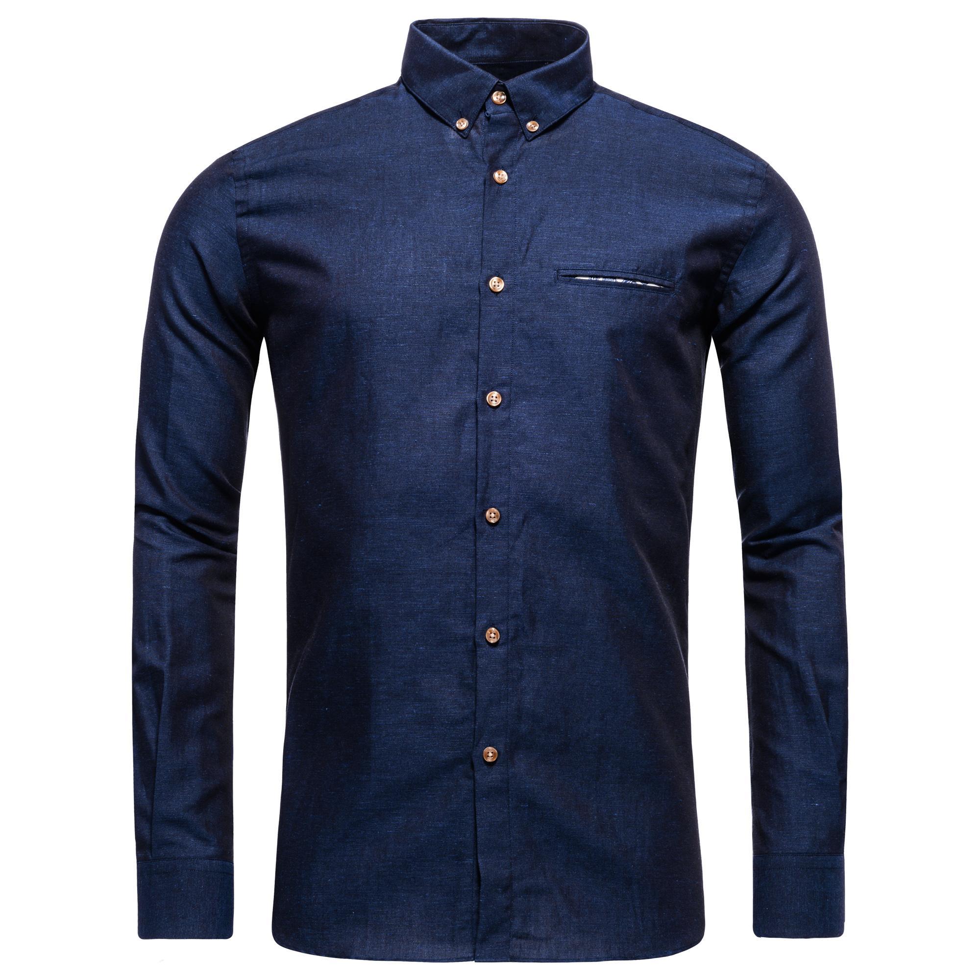 CR7 Skjorta Slim Fit Navy