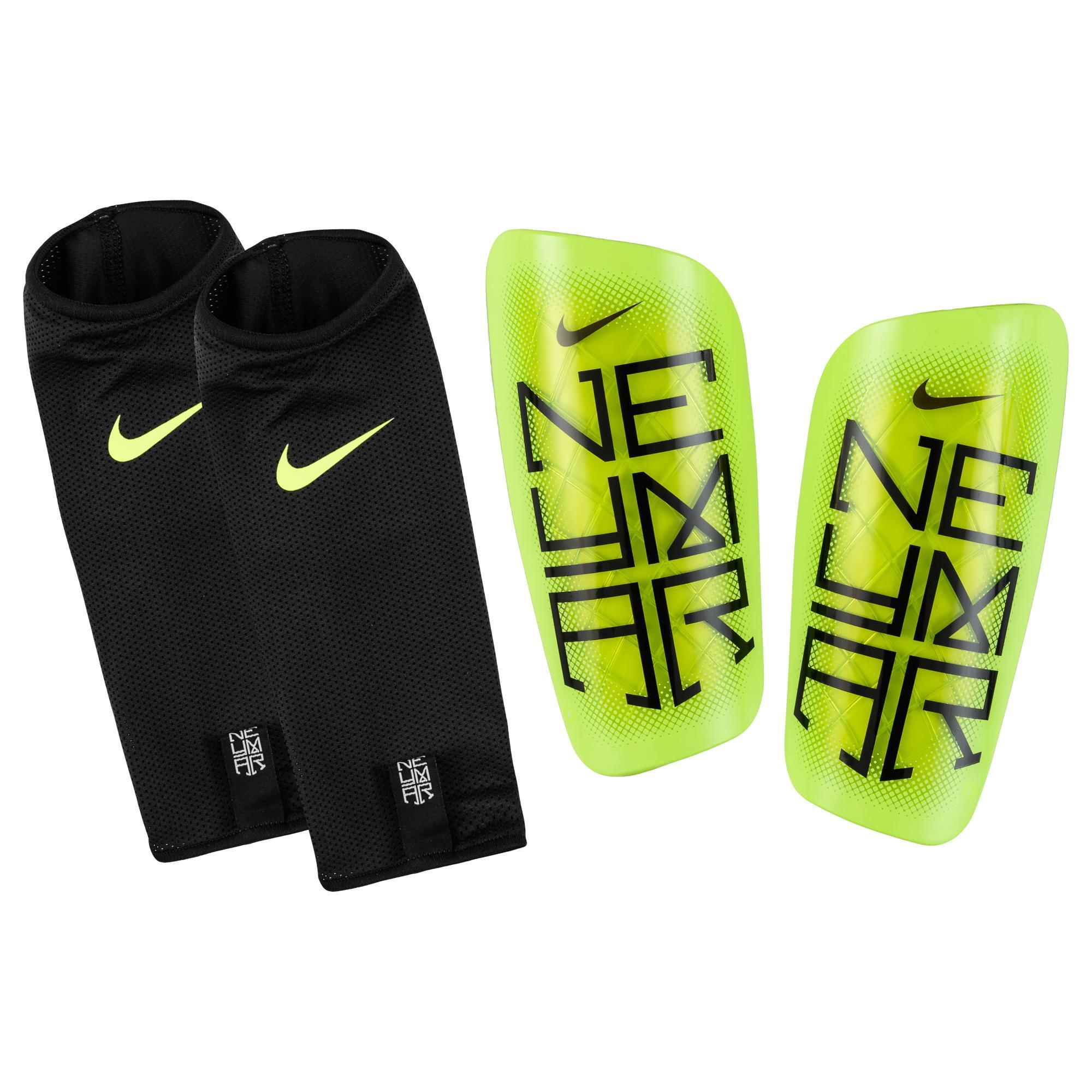 Nike Benskydd Mercurial Lite Neymar Jr. Neon/Svart