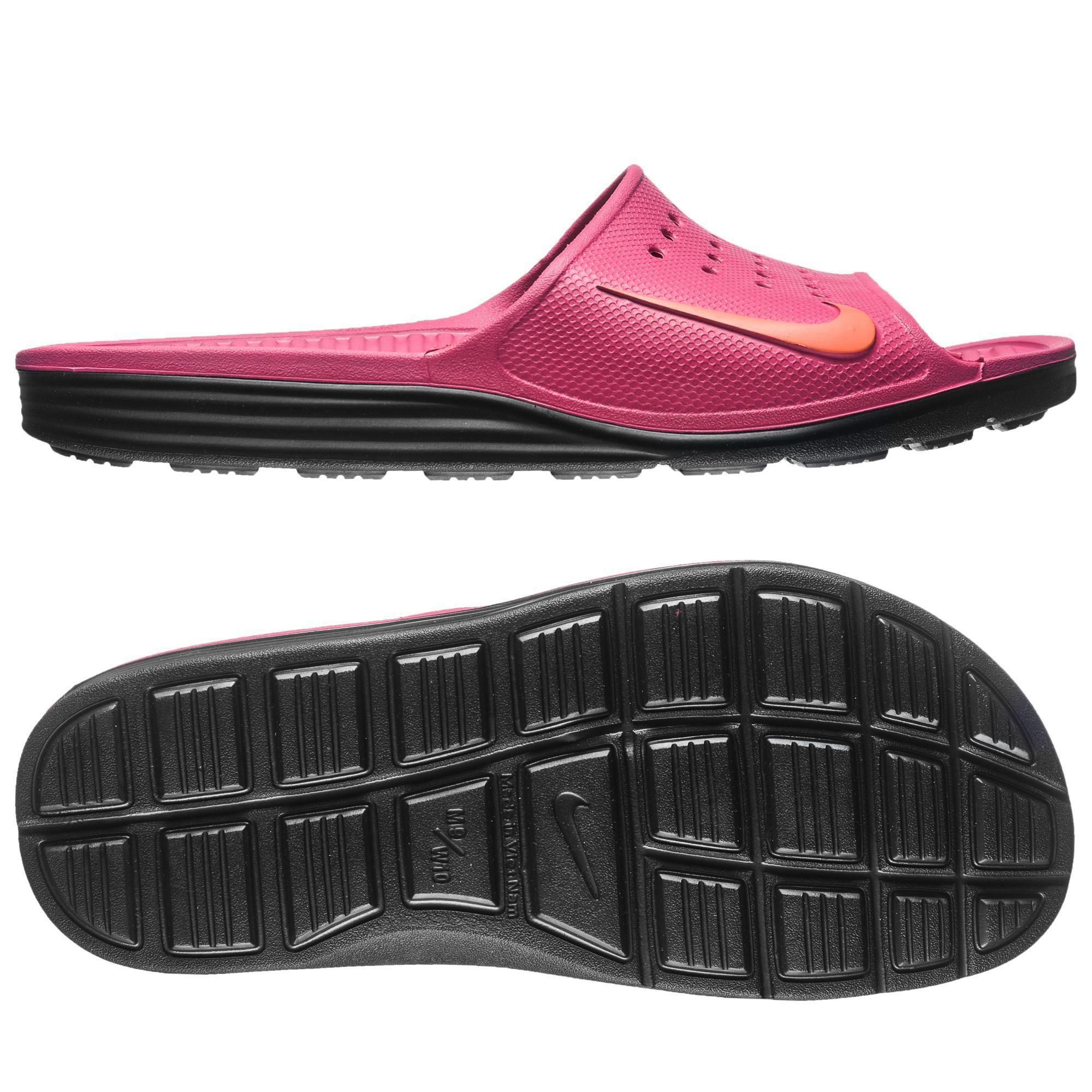 Nike Badtofflor Solarsoft Slide Lila/Svart Dam