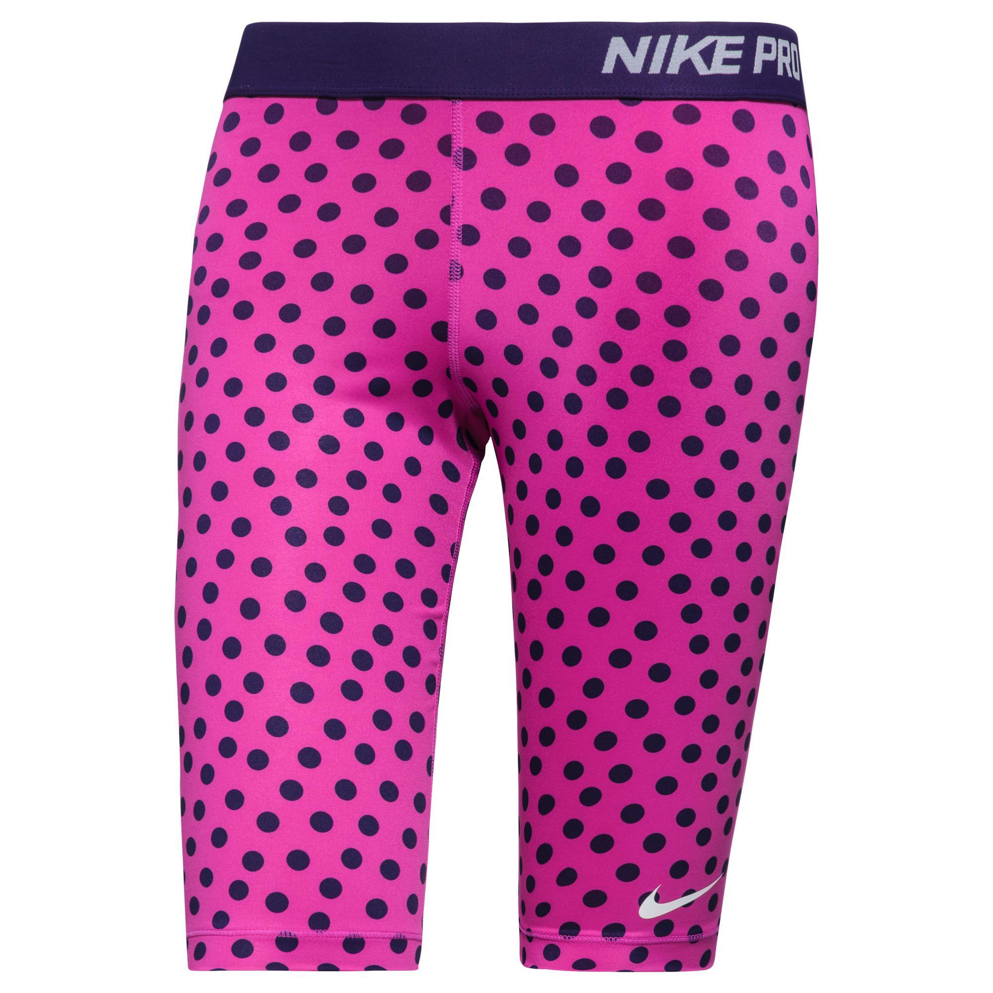 Nike Shorts Pro Small Dot 28cm Lila Dam