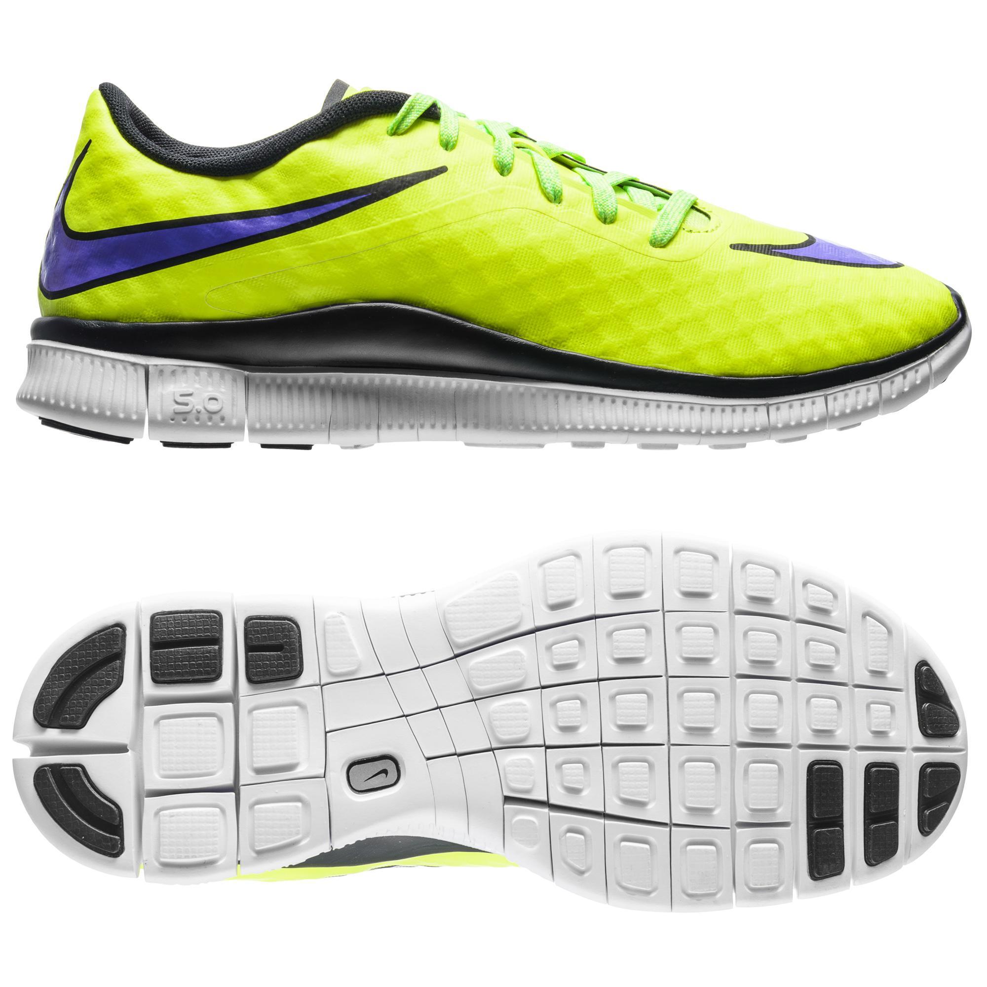 Nike Free Hypervenom Neon/Lila/Svart Barn
