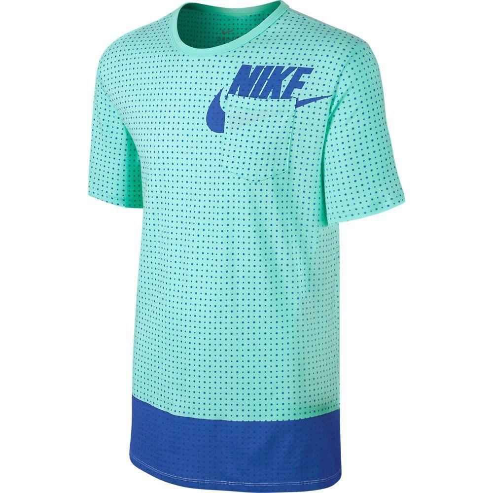 Nike T-Shirt Bonded Dot Futura Turkos/Blå