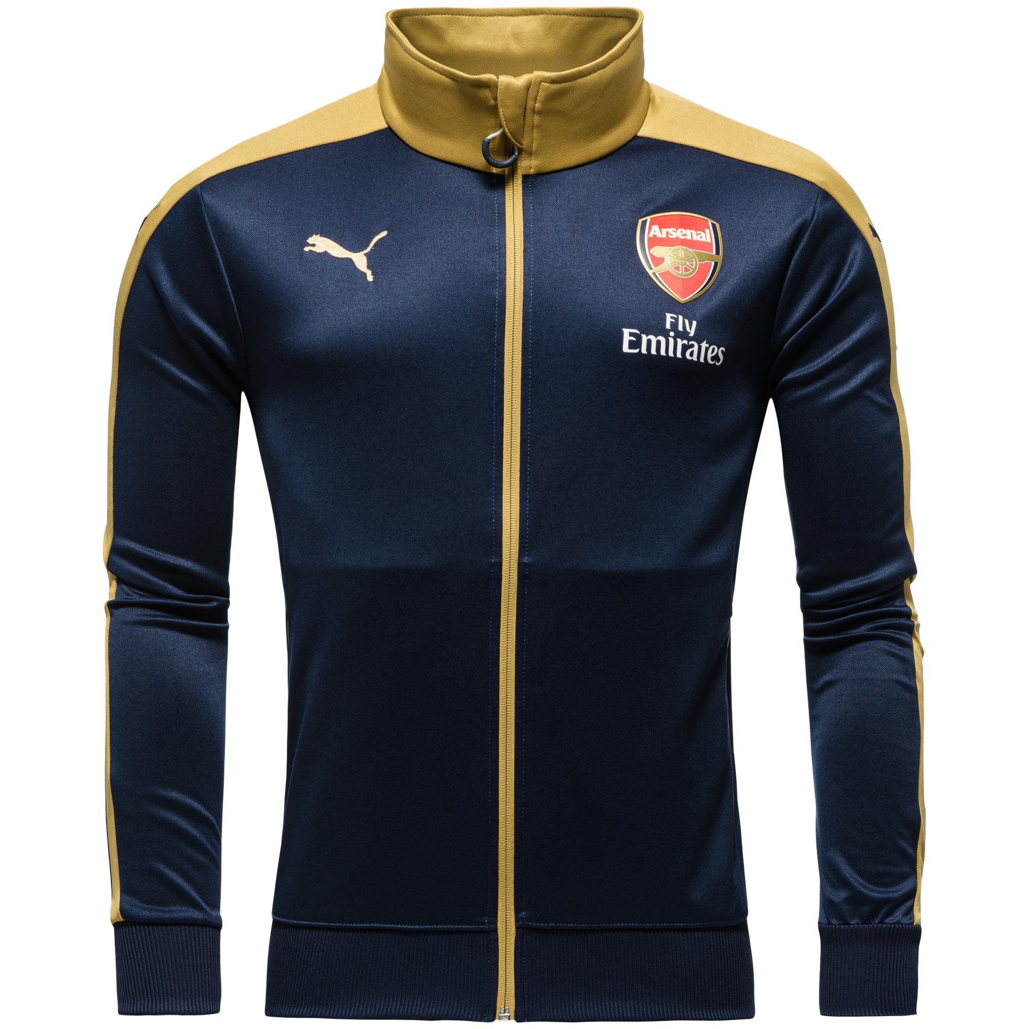 Arsenal Stadionjacka T7 Svart/Guld