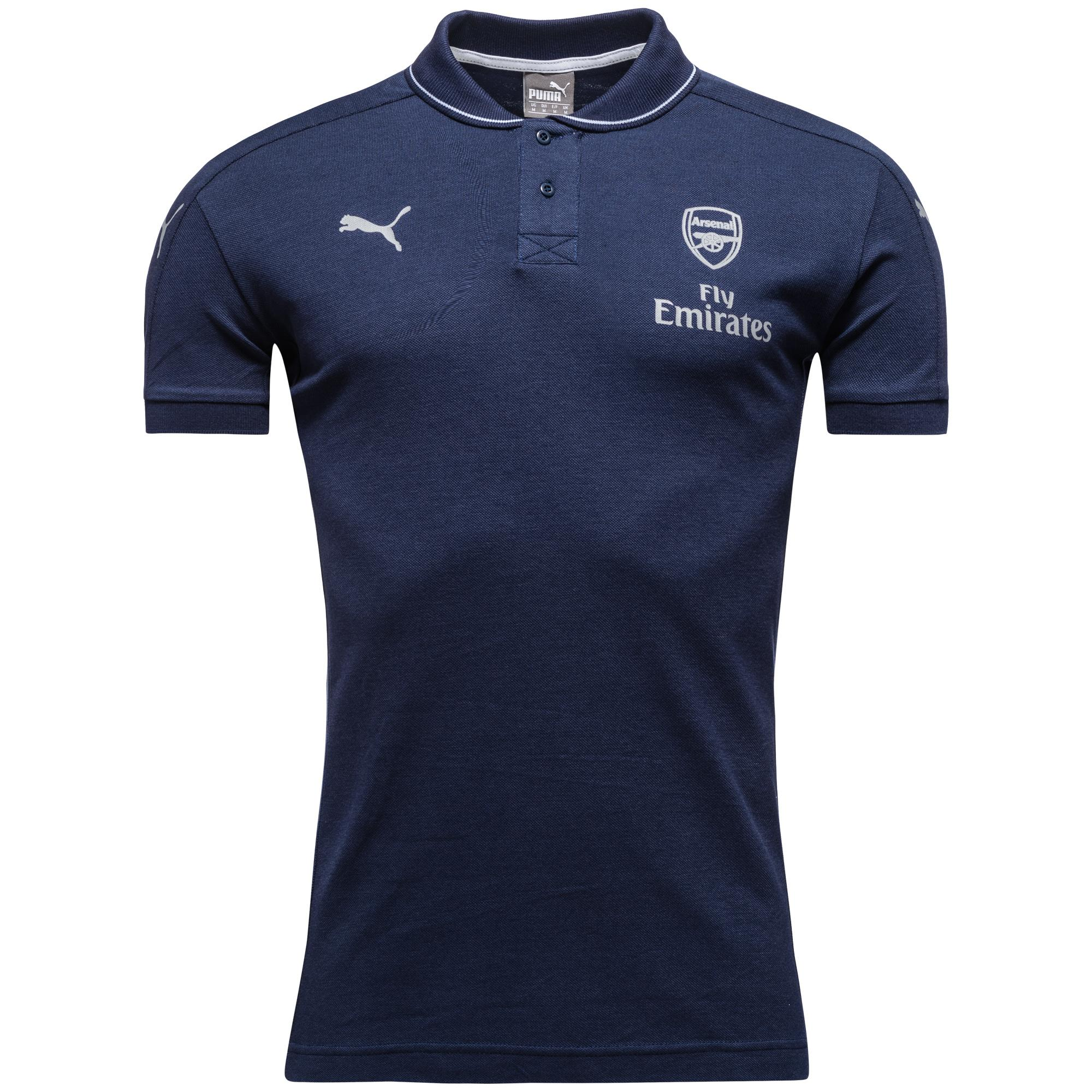 Arsenal Pikétröja Casual Performance Navy