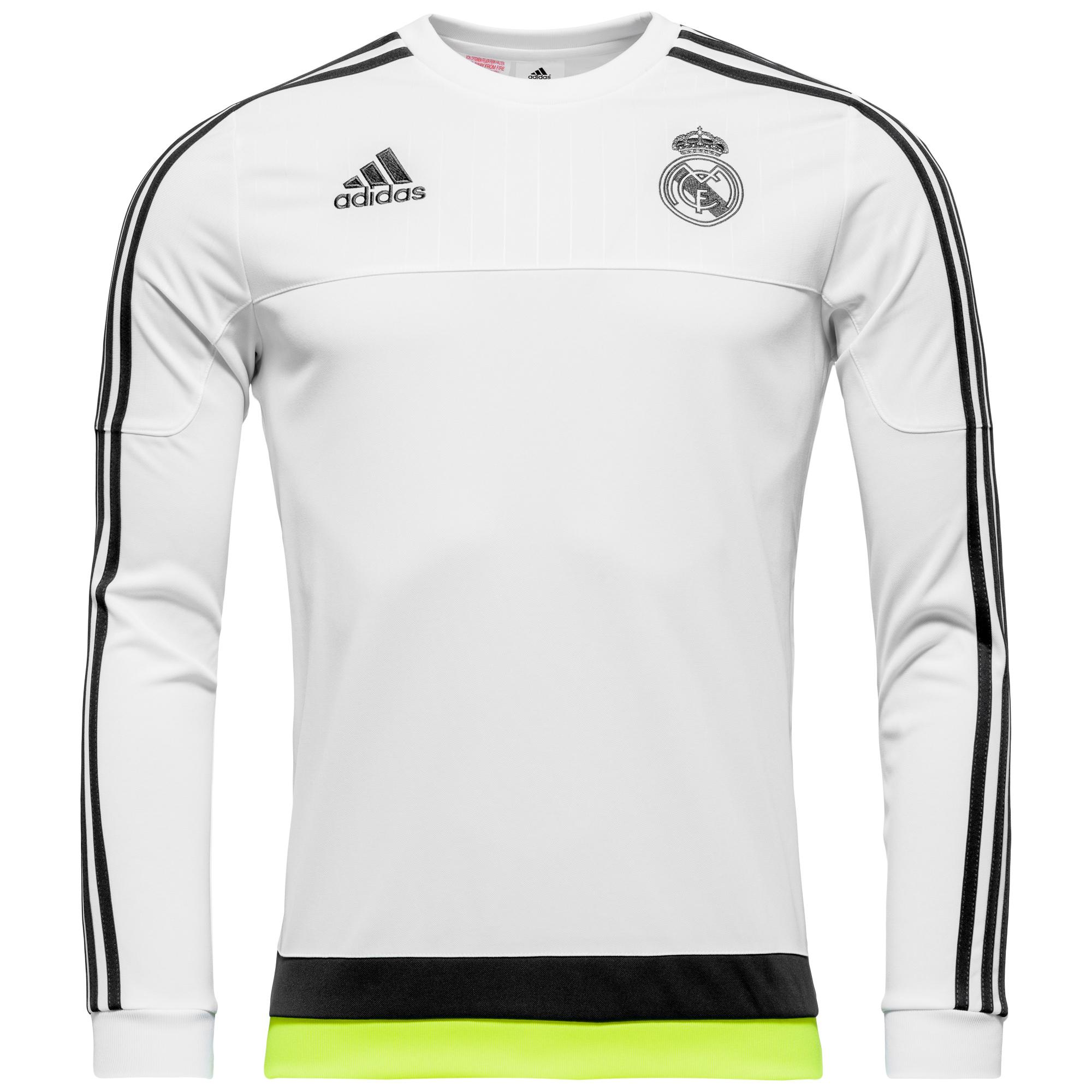 Real Madrid Träningströja Sweat Vit/Navy/Gul Barn