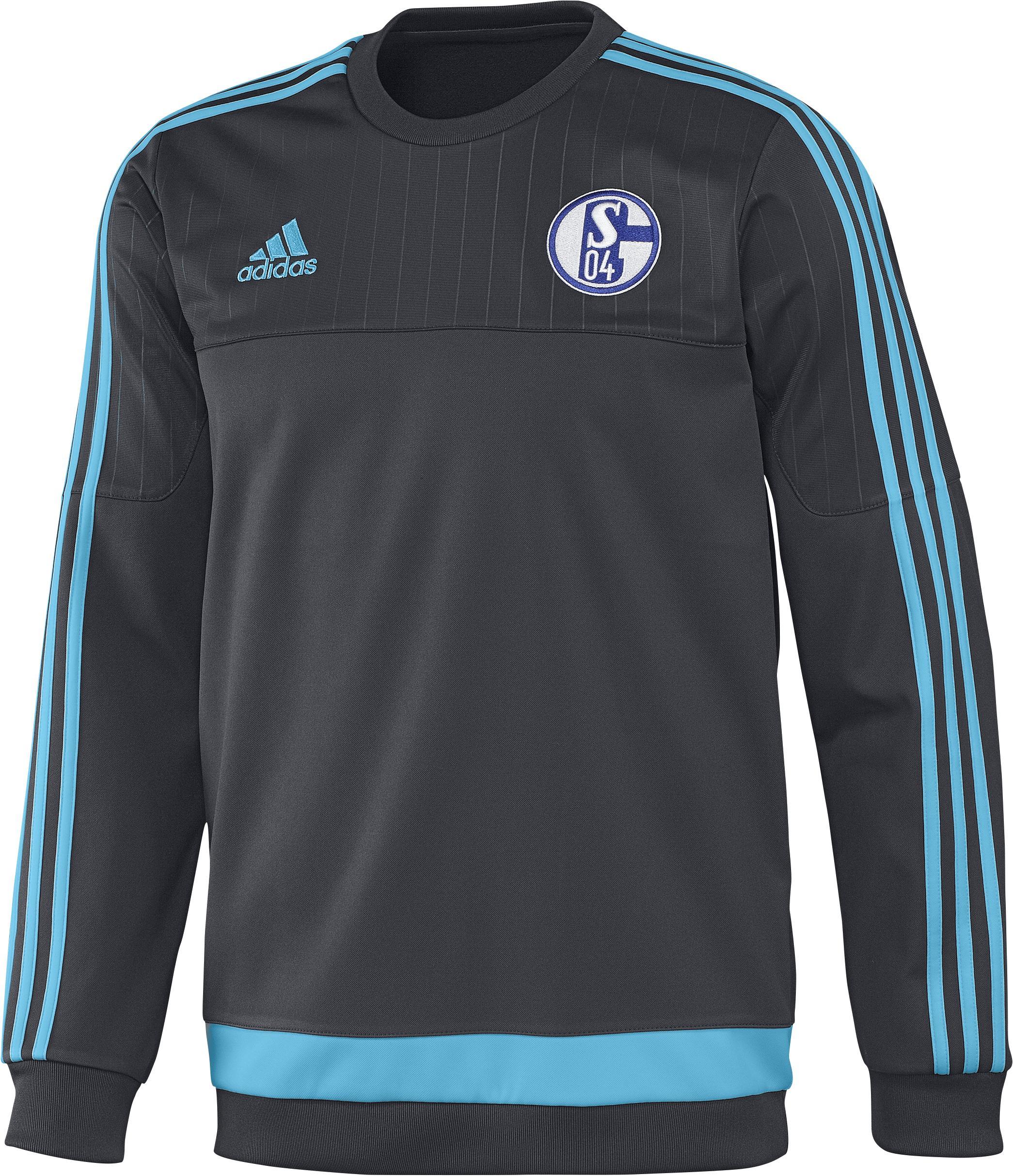 Schalke 04 Träningströja Sweat Grå/Blå