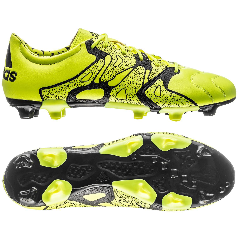 adidas X 15.2 Läder FG/AG Gul/Svart
