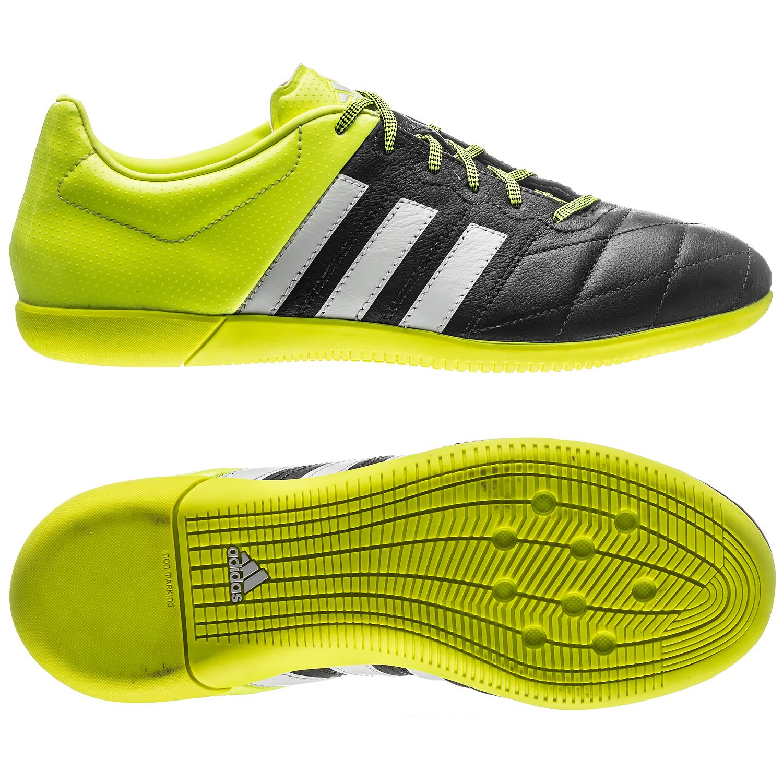 adidas Ace 15.3 Läder IN Svart/Gul/Vit Barn