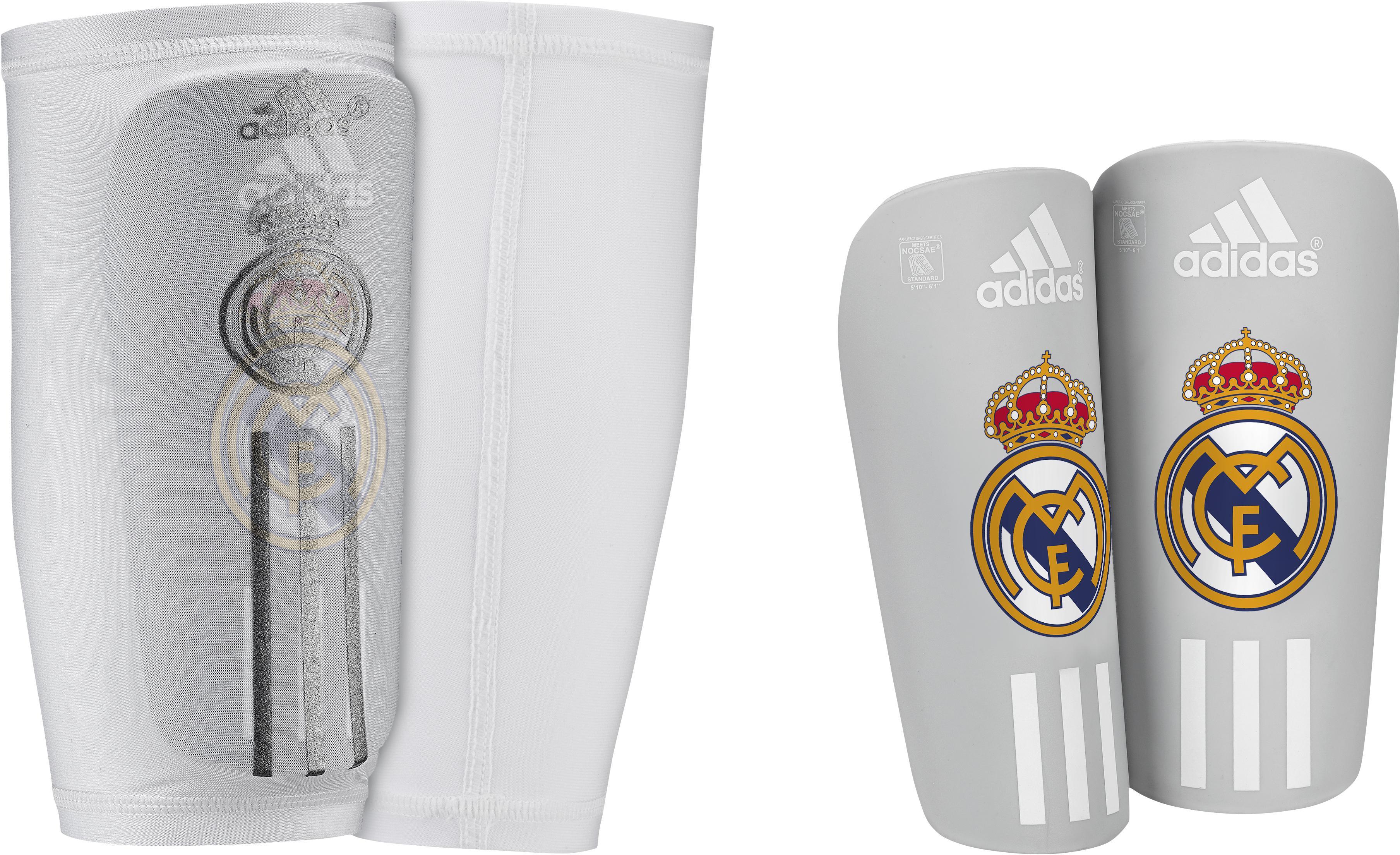adidas Real Madrid Benskydd Pro Lite Grå/Vit