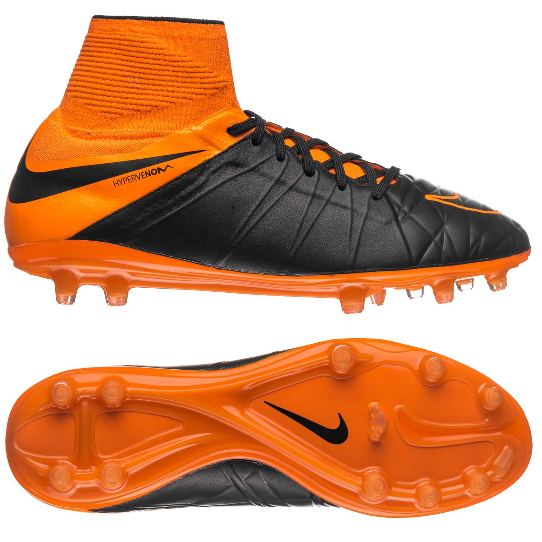 Nike Hypervenom Phantom II Läder FG Svart/Orange